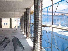 La remodelación de columnas para viejos edificios a ser  reforzadas.