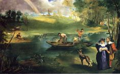 Fishing, 1863 by Edouard Manet. Impressionism. genre painting