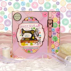 All the Girls by Hunkydory Crafts. Card made using 'Grandma's Button Box' topper set