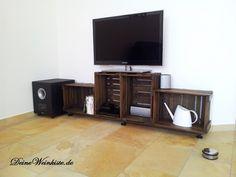 tv board aus weinkisten mit anti holzwurm w rmebehandlung auch f r dvd aufbewahrung 03. Black Bedroom Furniture Sets. Home Design Ideas