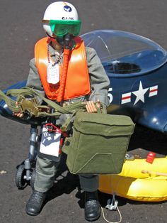 Vintage GI Joe Action Pilot, Scramble Pilot Sets, # 7801 and # 7807