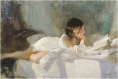 We are professional Vladimir Volegov supplier and manufacturer in China.We can produce Vladimir Volegov according to your requirements.More types of Vladimir Volegov wanted,please contact us right now! Reading Art, Woman Reading, Vladimir Volegov, Art Graphique, Russian Art, Beauty Art, Figure Painting, Painting People, Painting Art
