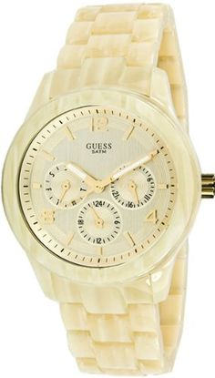 Guess Spectrum Alloy with imitation aluminum rubber Spay Womens Watch  Cream -- Want to know more, click on the image. (Note:Amazon affiliate link)