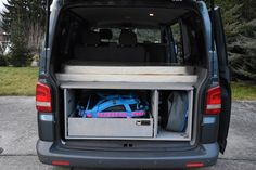 VW T5/T6 Transporter - TRAVEL-SLEEP-BOX T5 Transporter, Volkswagen Transporter, Vw T5, Caravelle Vw, Sleep Box, Camping Box, California Beach, Vans, Travel