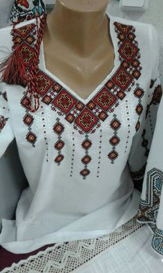 I really like this Ukrainian blouse. The neck line is lovely.