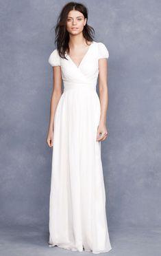 Znalezione obrazy dla zapytania short wedding dress short sleeve