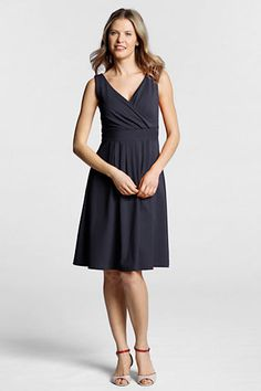 Land's End Sleeveless Cotton Modal Fit & Flare. Cute, machine washable, and just 50 bucks. Hello, my new summer church dress.