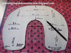 ARTESANATO COM QUIANE - Paps,Moldes,E.V.A,Feltro,Costuras,Fofuchas 3D: Molde da almofada de pescoço