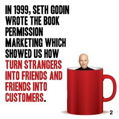 Today's Book Brief is Permission Marketing by Seth Godin. Get a full Book Brief in your inbox every single weekday by signing up for a Free Readitfor.me account @ www. Seth Godin, Personal Development Books, First Step, Content Marketing, Accounting, The Book, Leadership, Success, Writing