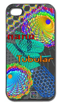 """Nano Tubular""(c) on an iPhone cover.  (c) 2013 Textiles for Thinkers, LLC.  All Rights Reserved."