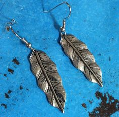 Tree Climber Earrings  silver toned leaf charm by MySoulCanDance on Etsy