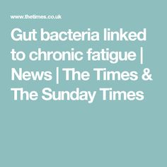 Gut bacteria linked to chronic fatigue | News | The Times & The Sunday Times