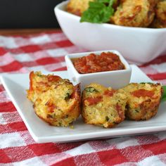 Pizza Bites made with Quinoa.  Made these today (8/1)   They were a hit with my kids and husband.  Will make again!