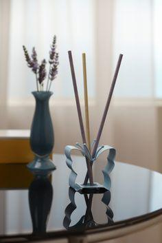 SmartScents Halter Blauer Schmetterling / Porte-bâtonnets - Papillon bleu métal