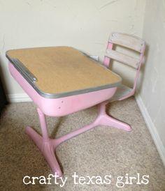 school desk.. Mine wasn't pink!! :(
