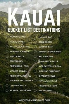 Save this pin for tropical travel inspiration later, … Kauai, Hawaii Bucket List. Save this pin Hawaii Vacation, Hawaii Travel, Beach Trip, Kauai Hawaii, Vacation Spots, Vacation Ideas, Oh The Places You'll Go, Cool Places To Visit, Places To Travel