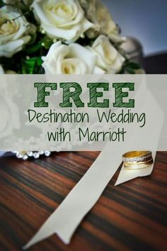 Marriott is offering FREE destination weddings and now offer wedding planning services.