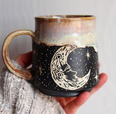 Photos Ceramics cup coffee Ideas mystical earthenware mug with a moon design Most current Photos Ceramics cup coffee Ideas mystical earthenware mug with a moon design Pottery carves a sgraffito bear mug. Galaxy Mug With Gold by Naomi Singer Modern Mud Diy Décoration, Cute Mugs, Mug Cup, Ceramic Pottery, Pottery Barn, Ceramic Art, Decoration, Tea Cups, Artsy