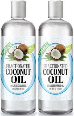 Fractionated Coconut Oil 16oz - 100% Pure, Premium Therapeutic Grade - Best Base or Carrier Oil for Aromatherapy, Essential Oil, and Massage - Numerous Hair and Skin Benefits and Perfect for use in Creams, Shampoos, And Other Home Recipes - Large 16 ounce size - Pack of 2 ** Remarkable product available now. : coconut essential oil