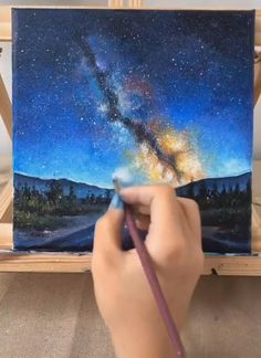 Canvas Painting Tutorials, Diy Canvas Art, Painting Techniques, Art Painting Gallery, Wow Art, Cool Art Drawings, Watercolor Art, Galaxy Painting Acrylic, Painting Clouds