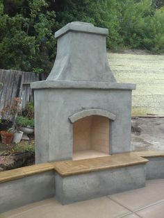 outdoor fireplace pictures | Detail on the firebox with running bond on the sides and herringbone ...