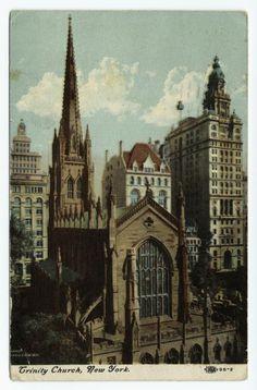 Trinity Church, New York (ca. 190-)  (via New York Public Library Digital Gallery)