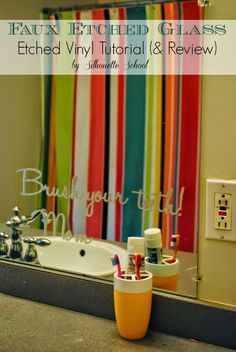 How to Faux Etch Glass, Mirrors and More with Vinyl ~ Silhouette School
