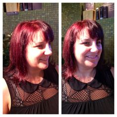 Our massage therapist Beverly's neo-goth inspired color