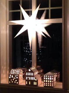 Christmas in Giske. Kähler lanterns.