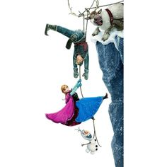 Anna, Kristoff, Olaf and Sven ❤ liked on Polyvore featuring frozen and disney