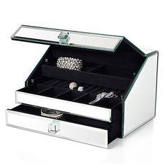 Mina Mirrored Jewelry Box 132 Jewelry Organizer Box