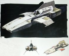 Battlestar Galactica concept sketch for the Ovion by Ralph McQuarrie