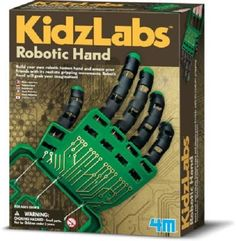 ROBOTIC HAND SCIENCE KIT BUILD YOUR OWN ROBOT EDUCATIONAL TOY MODEL HUMAN GRIP #TOYSMITH
