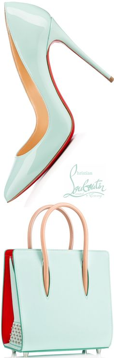 Christian Louboutin Pigalle Follies Patent Pumps & Paloma Small Tote Bag