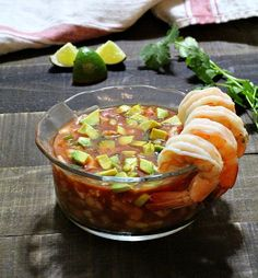 Next time you're in the mood for a shrimp cocktail appetizer, give this Mexican version a try. Campechana is a Traditional Mexican Shrimp Cocktail appetizer chock full of tomatoes, jalapeno, cucumber and more. Mexican Shrimp Cocktail, Mexican Shrimp Recipes, Mexican Appetizers, Shrimp Appetizers, Cocktail Recipes, Cocktails, Drink Recipes, Cocktail Appetizer, Cocktail