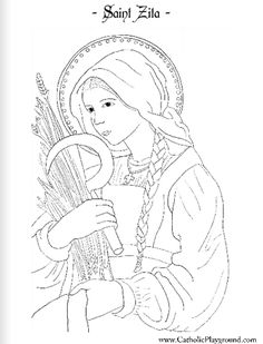 Saint Zita Catholic Coloring Page: Feast day is April 27th