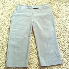 Classic Gray Capris Gray Capris - professional looking for work; classy for a night out. Excellent condition. Just no longer fits. (also selling black and khaki pairs - see closet). Apt. 9 Pants Capris
