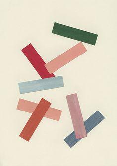 Liam Stevens -Rectilinear Forms Gouache on paper