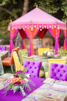 Summer of love - inspired birthday party. The poolside affair feature bright colors, chic tufted furniture, and gorgeous vibrant florals. Hippie Party, 50th Birthday, Birthday Celebration, Birthday Parties, Janis Joplin, Event Planning Design, Party Planning, Linen Rentals, Milestone Birthdays