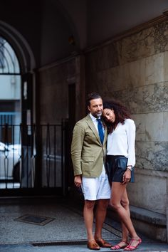 Exploring Fashion Insiders, Style, Beauty, and Travel Destinations. Street-Style / Street-Fashion By Jason Jean. Milan Men's Fashion Week, Mens Fashion Week, Street Fashion, Elegant Couple, Street Style 2016, Fashion Couple, Couple Outfits, Well Dressed Men, Menswear