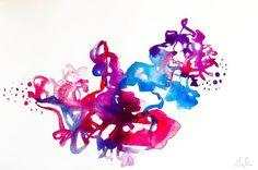 Flourish watercolor on paper. . . . #art #artist #painting #watercolor #abstract #color #artoftheday #ratedmodernart #californiaartist #gaylemidnight #watercolorpainting #creativemamas #create #artislife #contemporaryart #modernart #abstractart #design  #california #losangeles #sketchbook #artgallery #pink #purple #blue