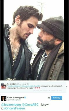 Hook and Grumpy ? Yes ! Colin O'Donoghue and Lee Arenberg