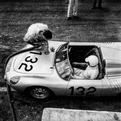 Targa Florio 1961. Porsche 718 RS 61. Hans Hermann e Edgar Barth. Terzi assoluti nella gara. Archivio Fotografico: Franco e Giusto Scafidi
