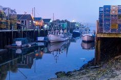 https://flic.kr/p/TBohYF | Spring Night at Widgery Wharf in the Old Port | A Wharf on Portland's Working Waterfront.