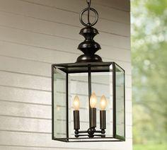 Patterson Pendant, Pottery Barn  Outdoor light fixture for pergola