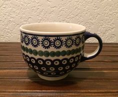 Polish Pottery Large Coffee Mug / Soup by MimisMiniMarketplace