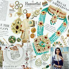 Regal Ambitions - Let the regalia of the erstwhile nizams set the mood for an ostentatious bridal trousseau !  #hazoorilalbysandeepnarang #hazoorilaljewellersgk #hazoorilalpressrelease #hazoorilal #itcmaurya #dlfemporio#bazaarbride