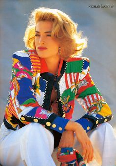 Tatjana Patitz pictures and photos 80s And 90s Fashion, Retro Fashion, Vintage Fashion, Womens Fashion, 00s Mode, Look 80s, Tatjana Patitz, Moda Vintage, Silk Jacket