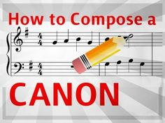 Great tips on how to write a canon! Quick and easy Youtube Video.