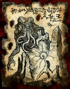 SORCERESS of MU Cthulhu Necronomicon page occult horror witchcraft Hp Lovecraft, Lovecraft Cthulhu, Call Of Cthulhu Rpg, Dark Books, Lovecraftian Horror, Satanic Art, Dark Artwork, Demon Art, Occult Art